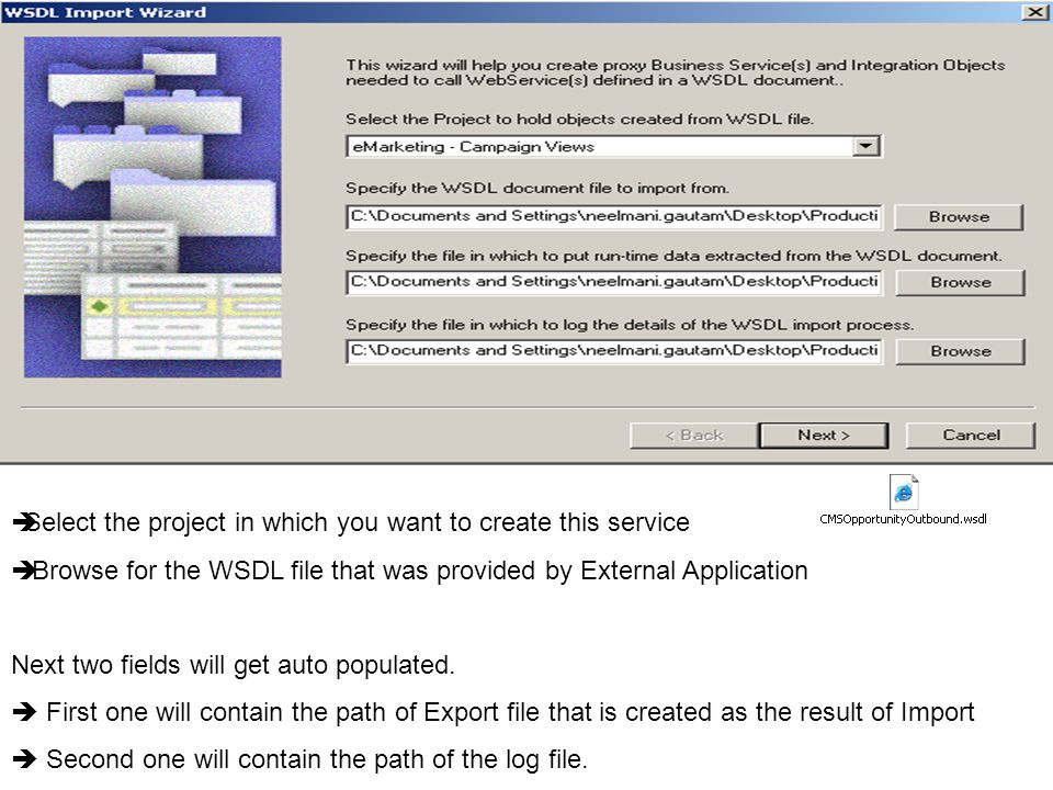 Select the project in which you want to create this service