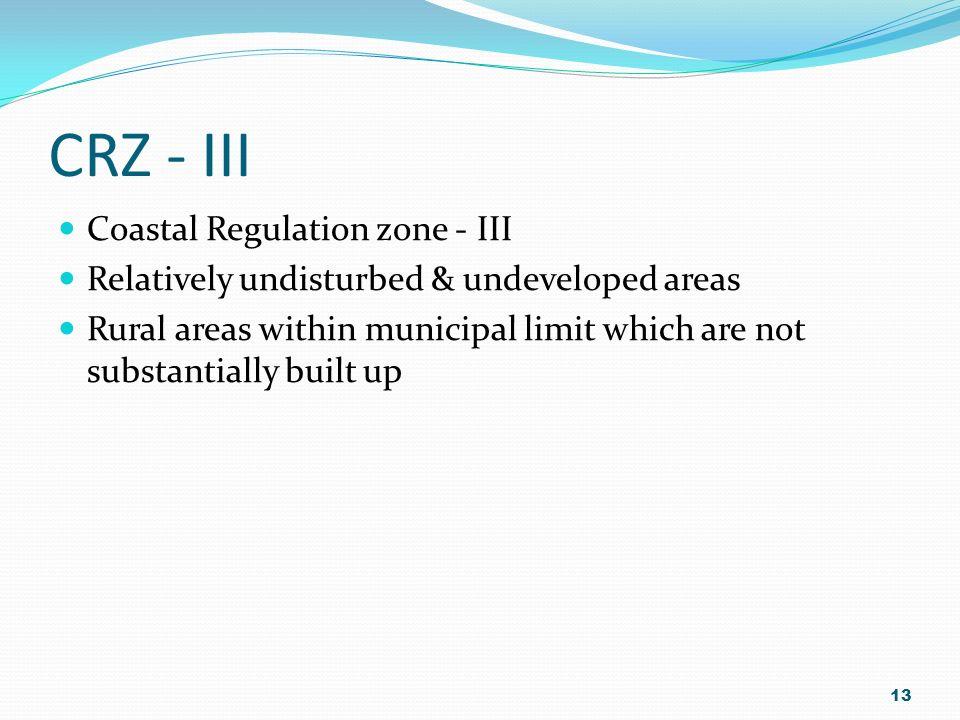 CRZ - III Coastal Regulation zone - III