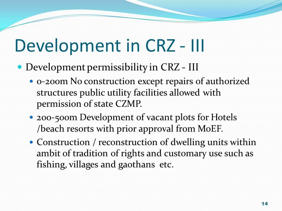Development in CRZ - III