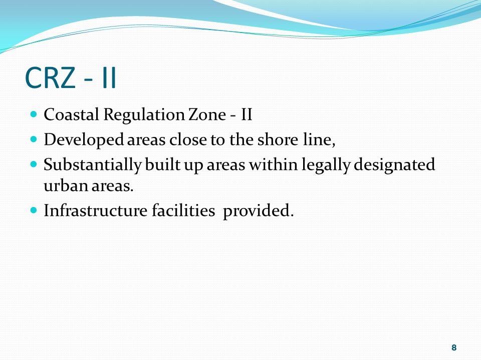 CRZ - II Coastal Regulation Zone - II