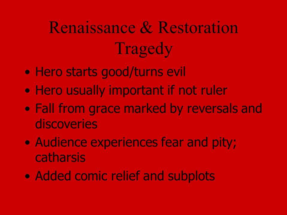Renaissance & Restoration Tragedy
