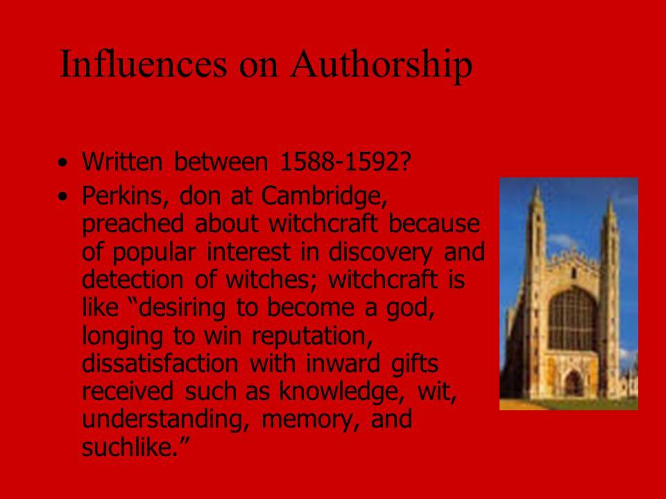 Influences on Authorship