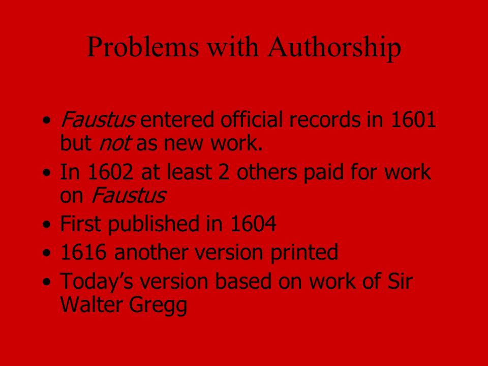Problems with Authorship