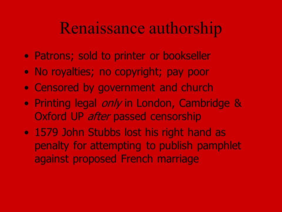 Renaissance authorship