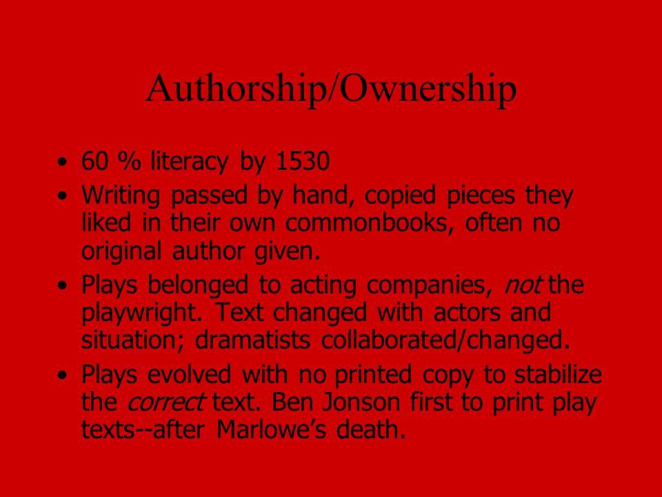 Authorship/Ownership