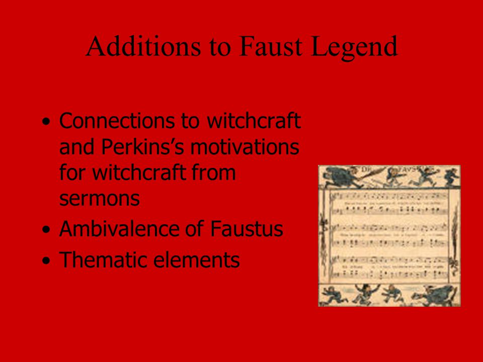 Additions to Faust Legend