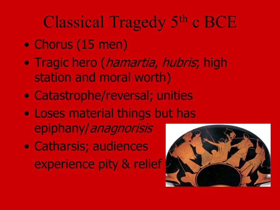 Classical Tragedy 5th c BCE