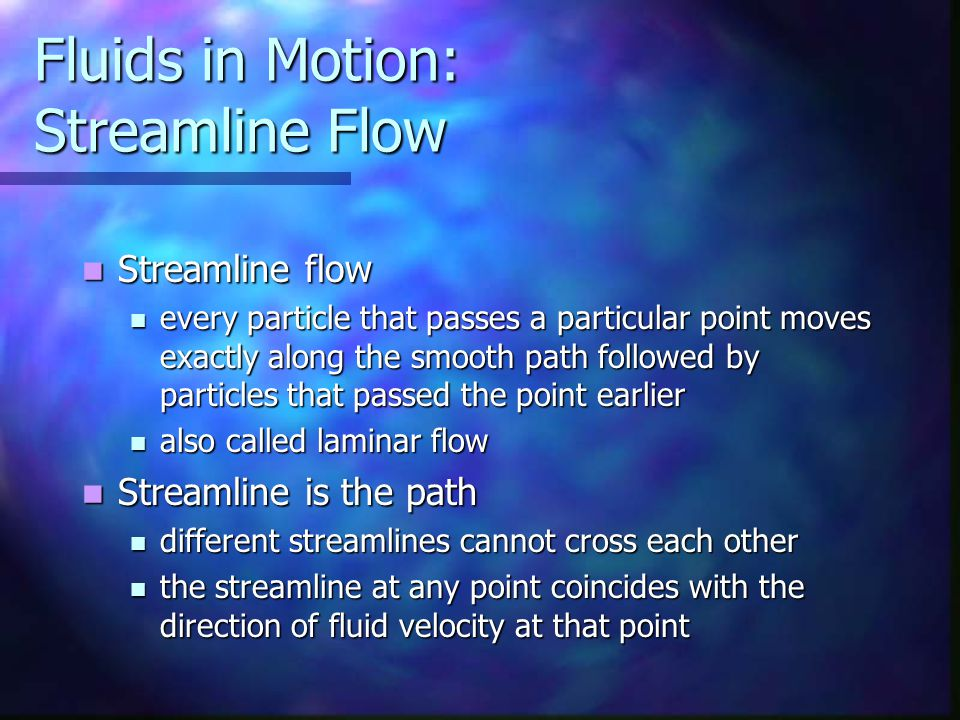 Fluids in Motion: Streamline Flow