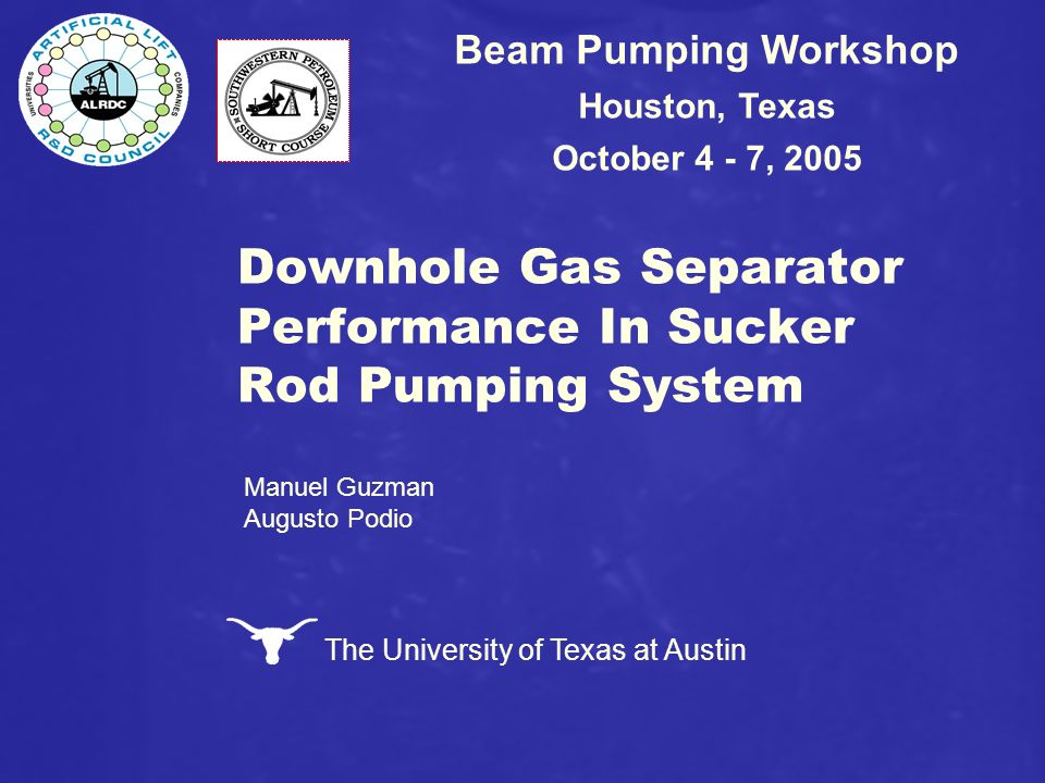Downhole Gas Separator Performance In Sucker Rod Pumping System