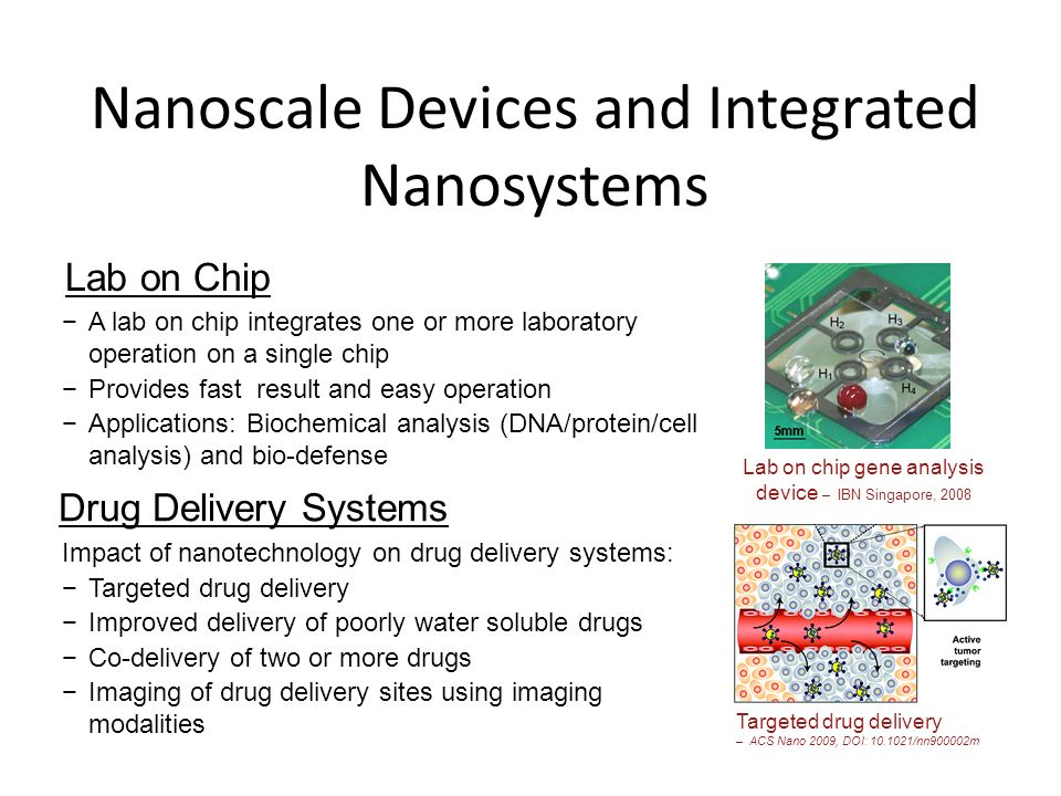 Nanoscale Devices and Integrated Nanosystems