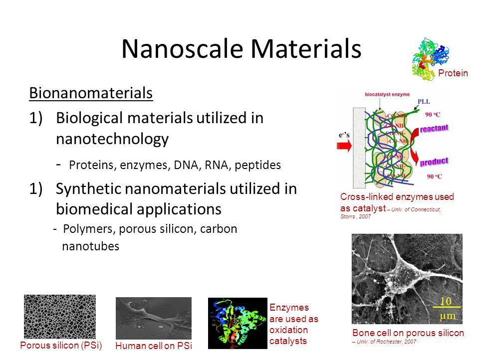Nanoscale Materials Bionanomaterials