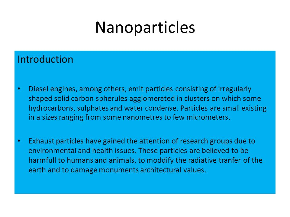Nanoparticles Introduction