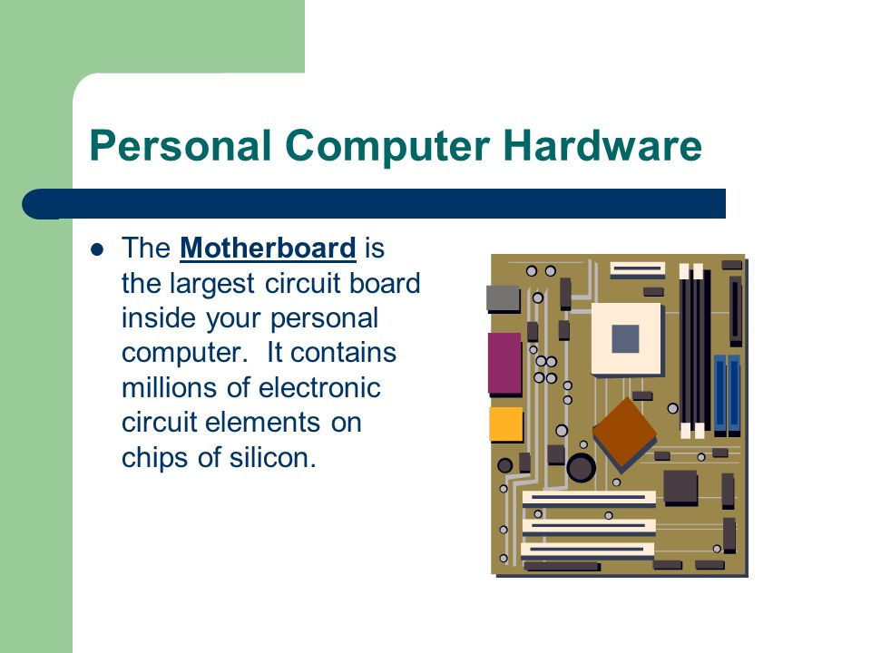Personal Computer Hardware