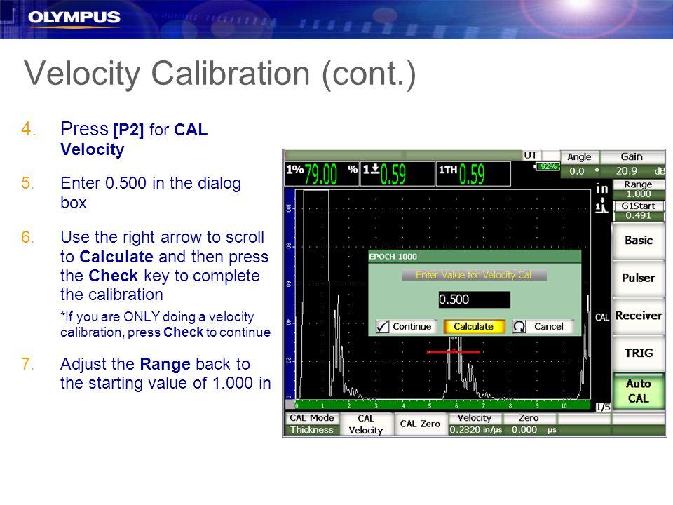 Velocity Calibration (cont.)