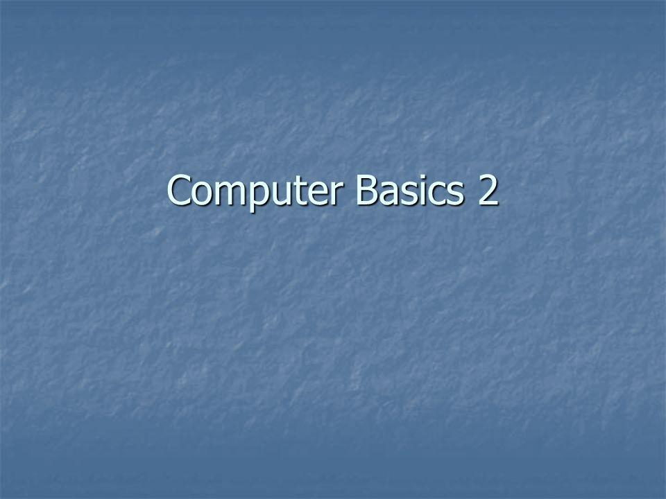 Computer Basics 2