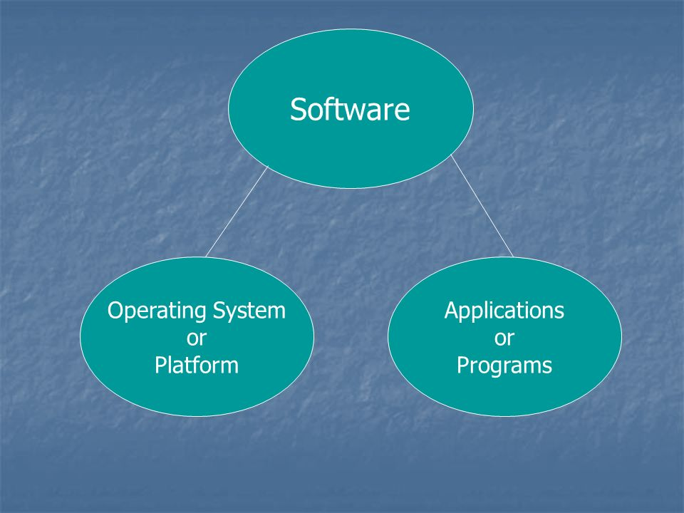 Software Operating System or Platform Applications or Programs