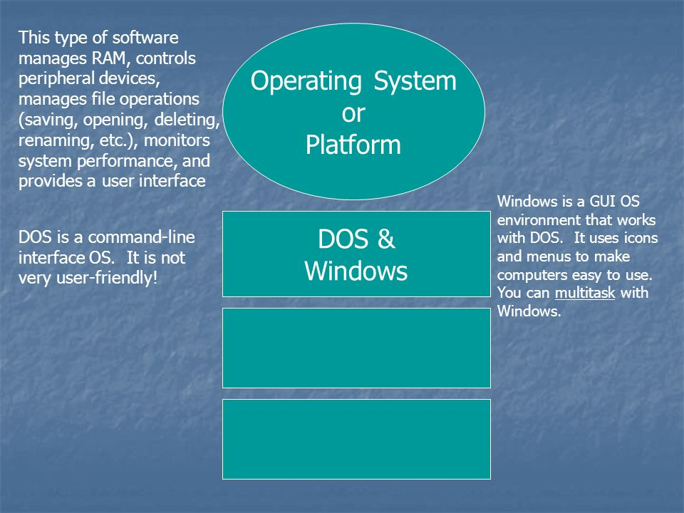 Operating System or Platform DOS & Windows