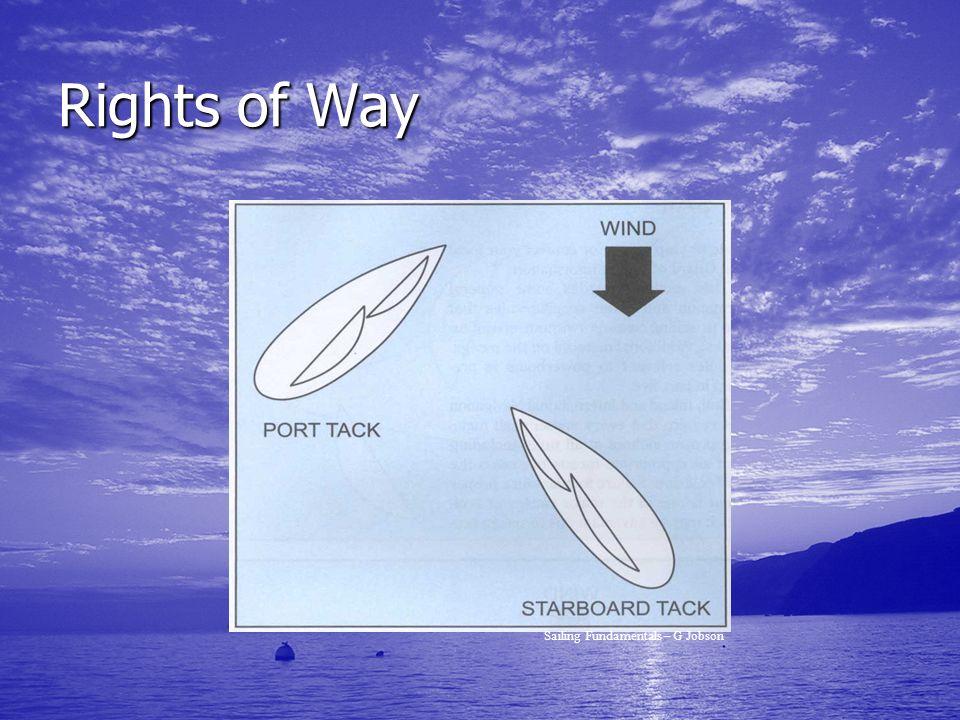 Rights of Way Sailing Fundamentals – G Jobson