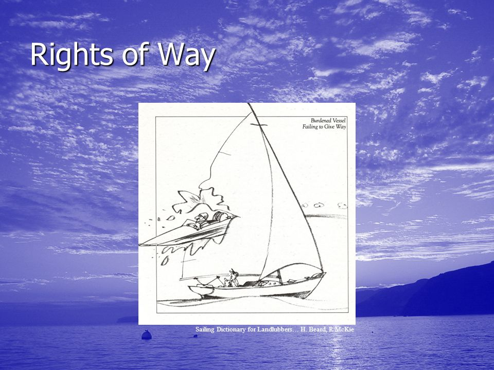 Rights of Way Sailing Dictionary for Landlubbers… H. Beard, R McKie