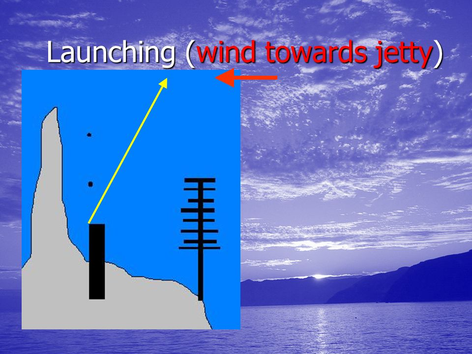 Launching (wind towards jetty)