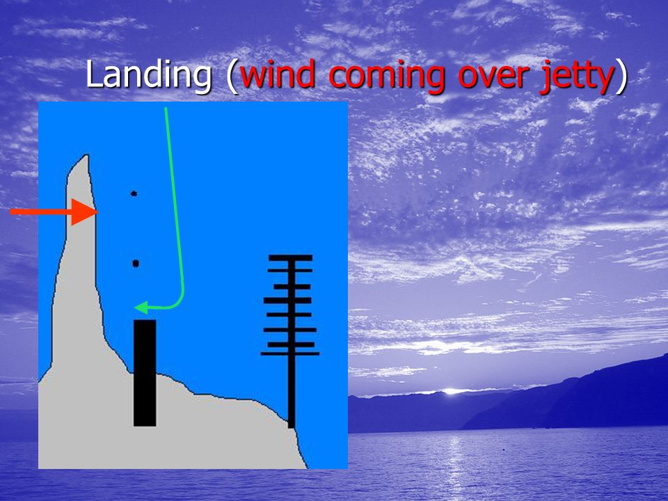 Landing (wind coming over jetty)
