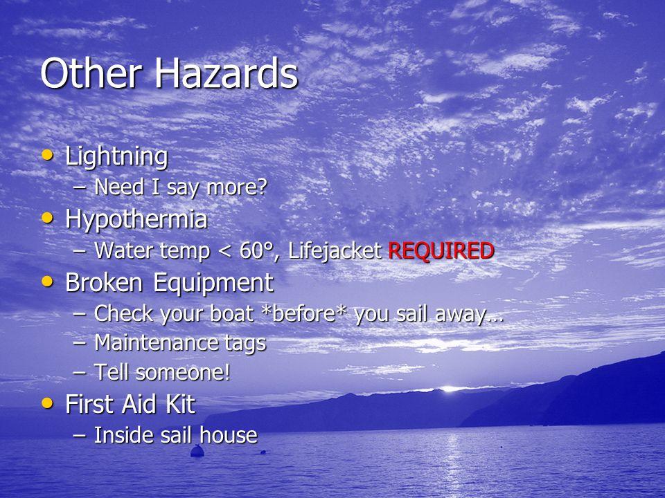 Other Hazards Lightning Hypothermia Broken Equipment First Aid Kit