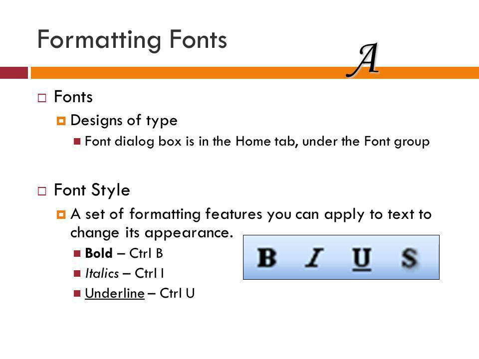 A Formatting Fonts Fonts Font Style Designs of type