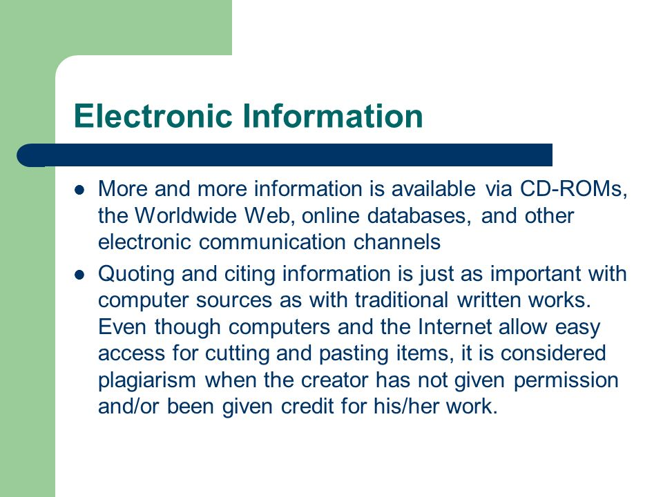 Electronic Information