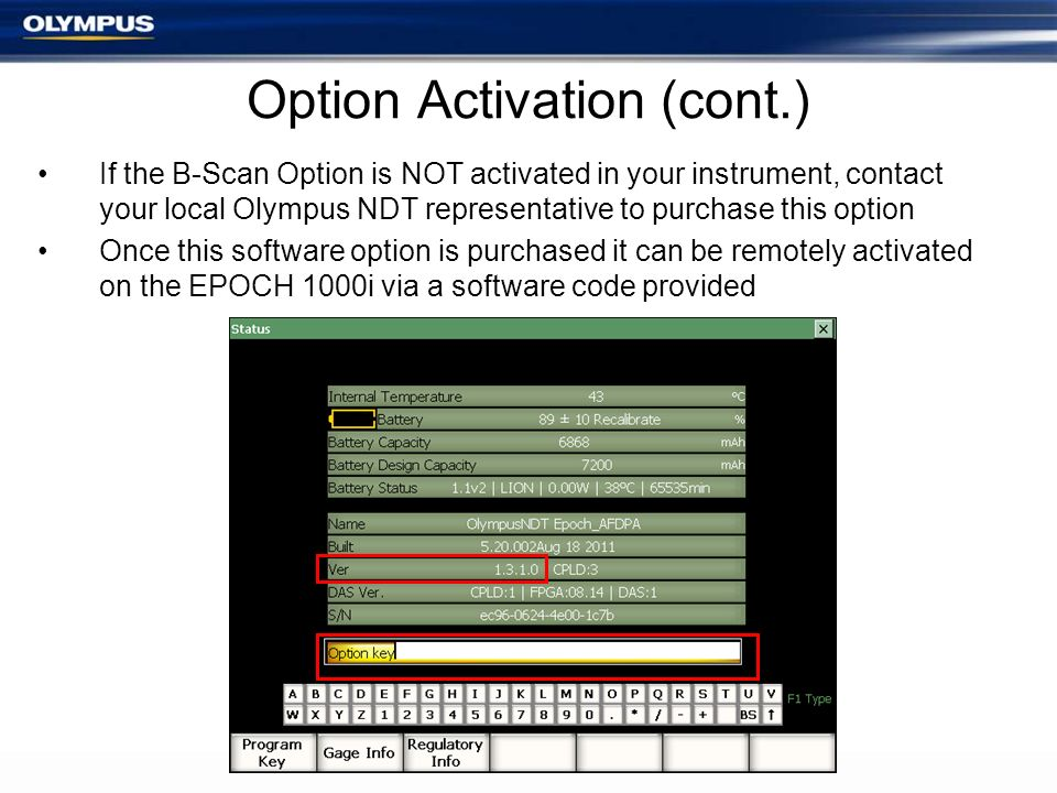Option Activation (cont.)
