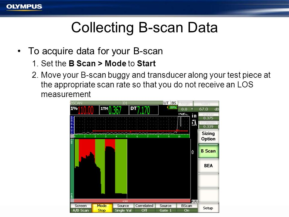 Collecting B-scan Data