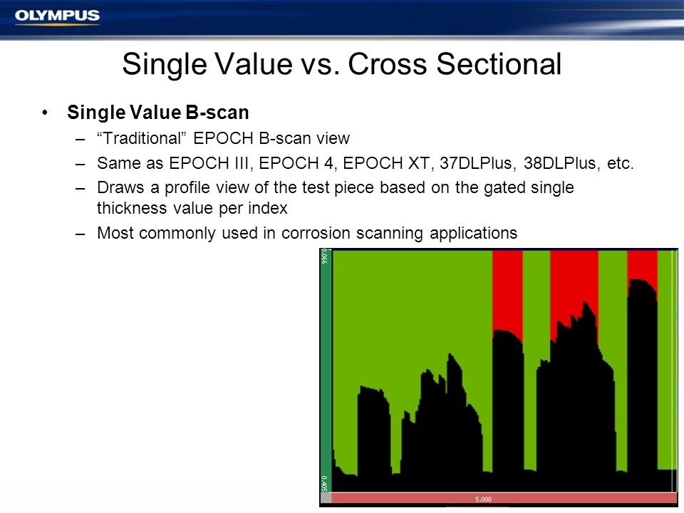 Single Value vs. Cross Sectional