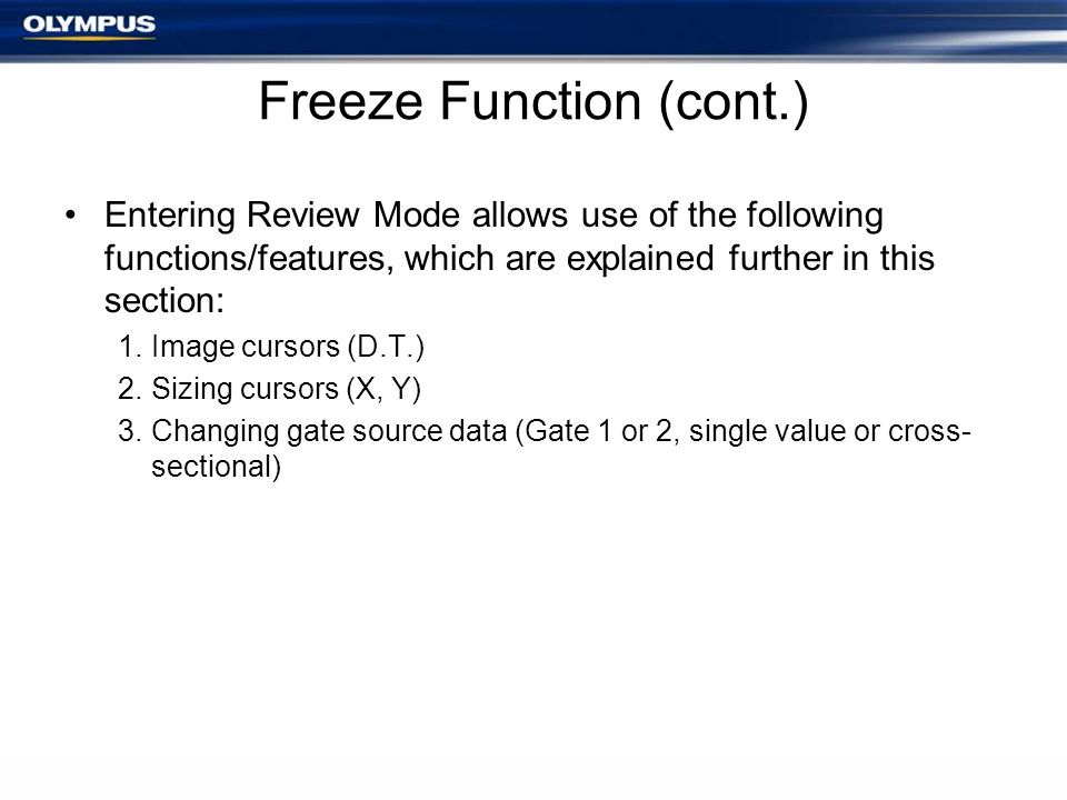 Freeze Function (cont.)