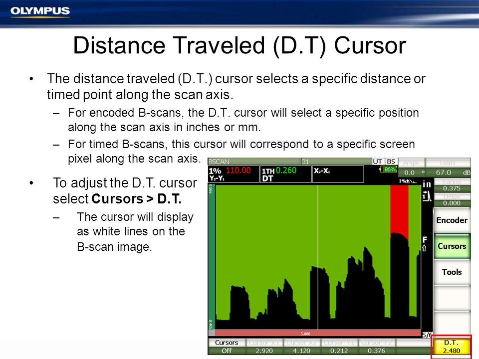 Distance Traveled (D.T) Cursor