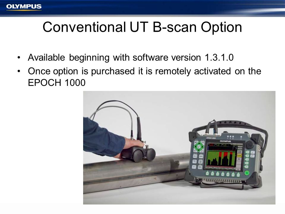 Conventional UT B-scan Option