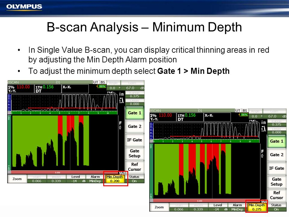 B-scan Analysis – Minimum Depth