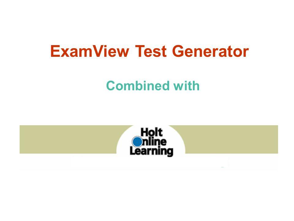 ExamView Test Generator