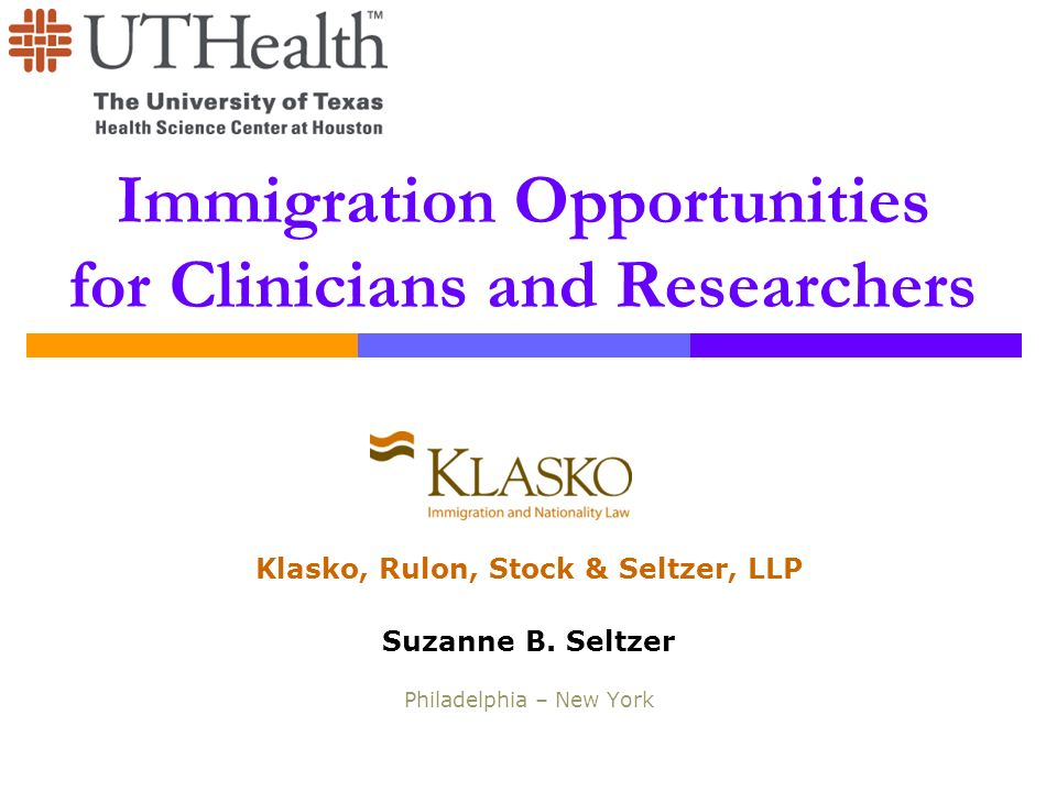 Immigration Opportunities for Clinicians and Researchers