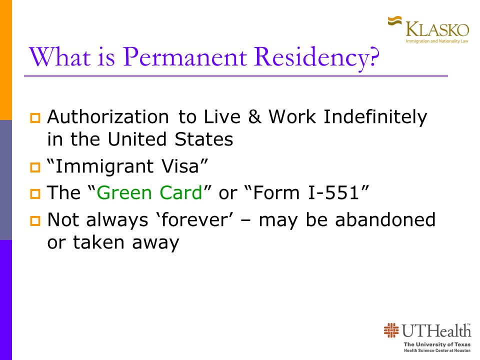 What is Permanent Residency