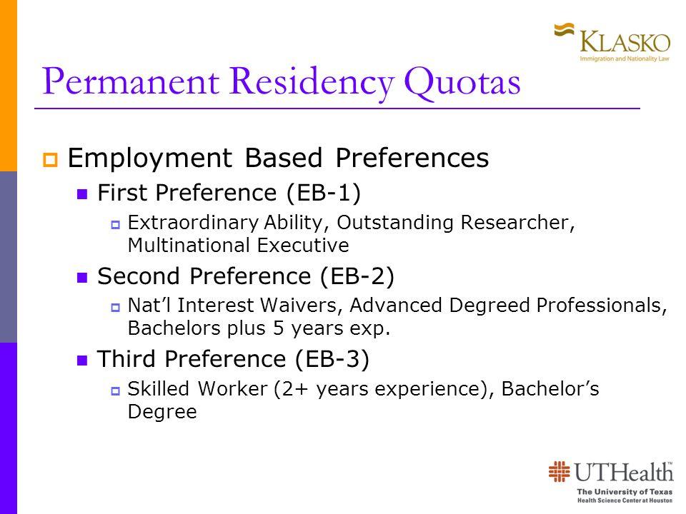 Permanent Residency Quotas