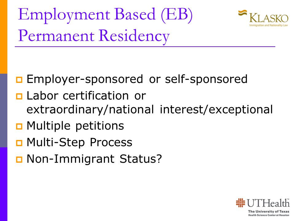 Employment Based (EB) Permanent Residency
