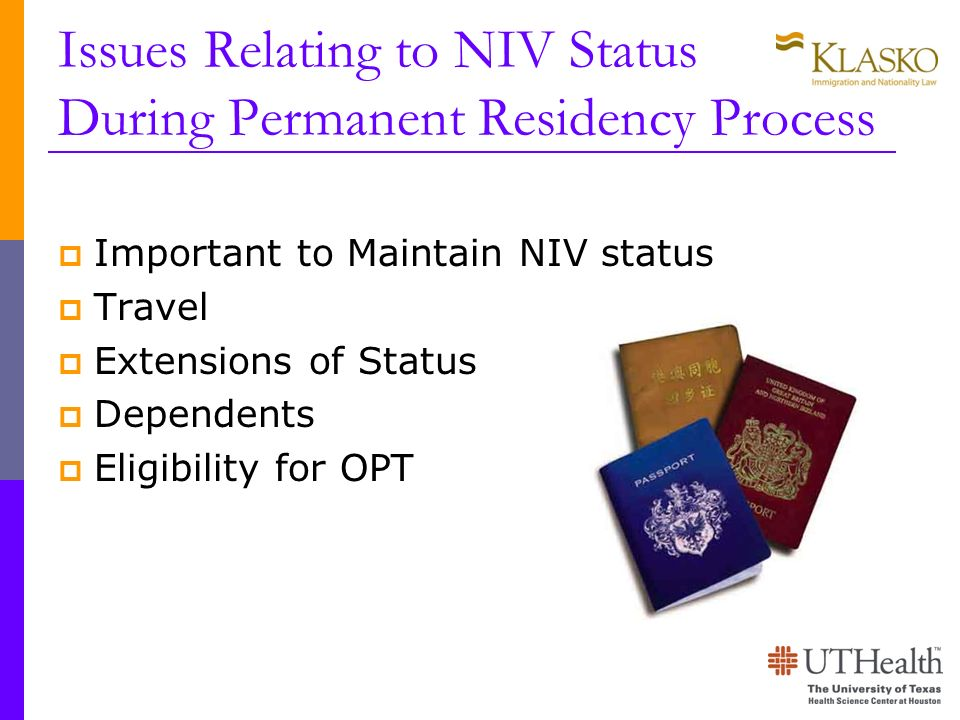 Issues Relating to NIV Status During Permanent Residency Process