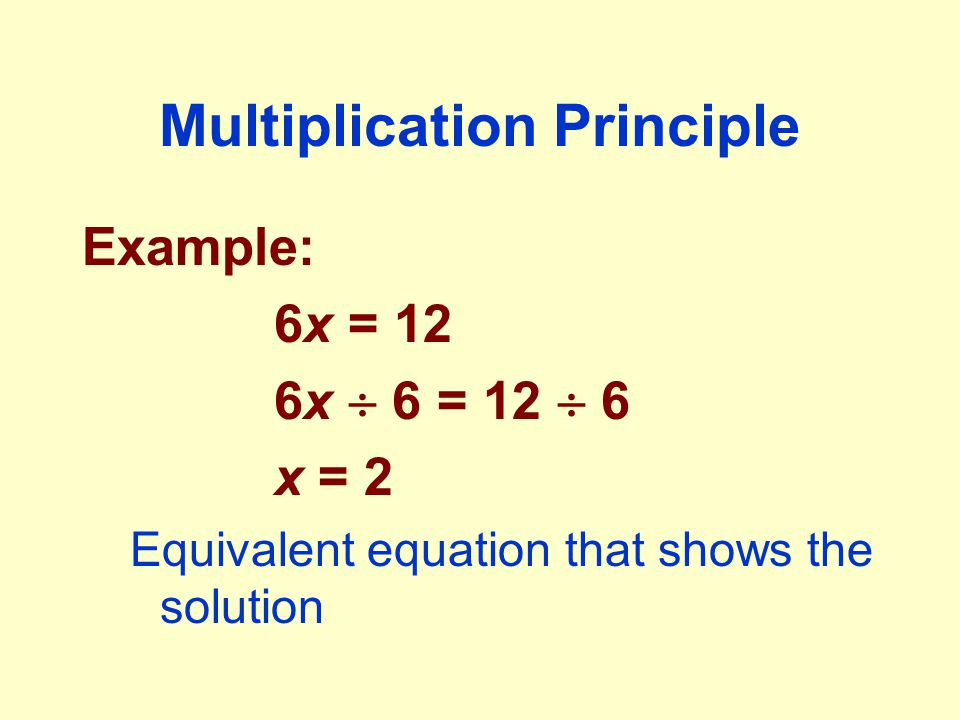 Multiplication Principle