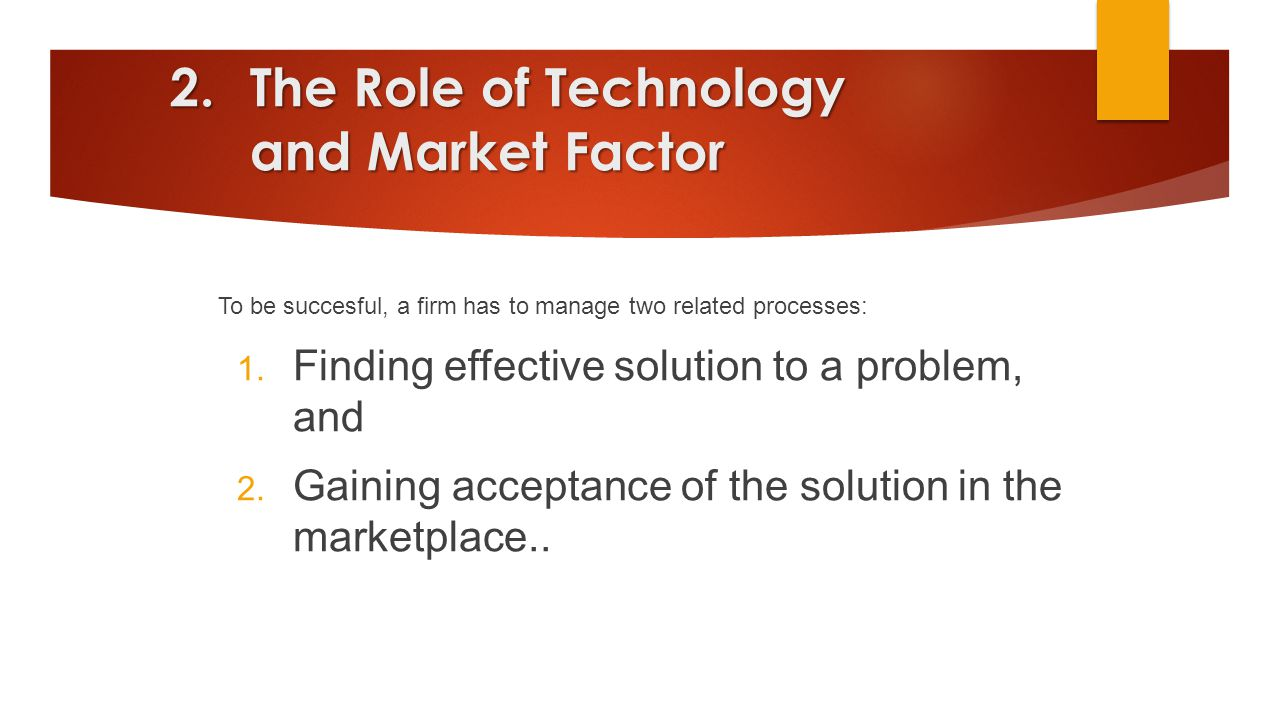 The Role of Technology and Market Factor