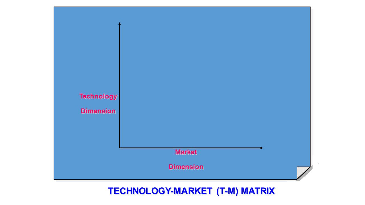 TECHNOLOGY-MARKET (T-M) MATRIX