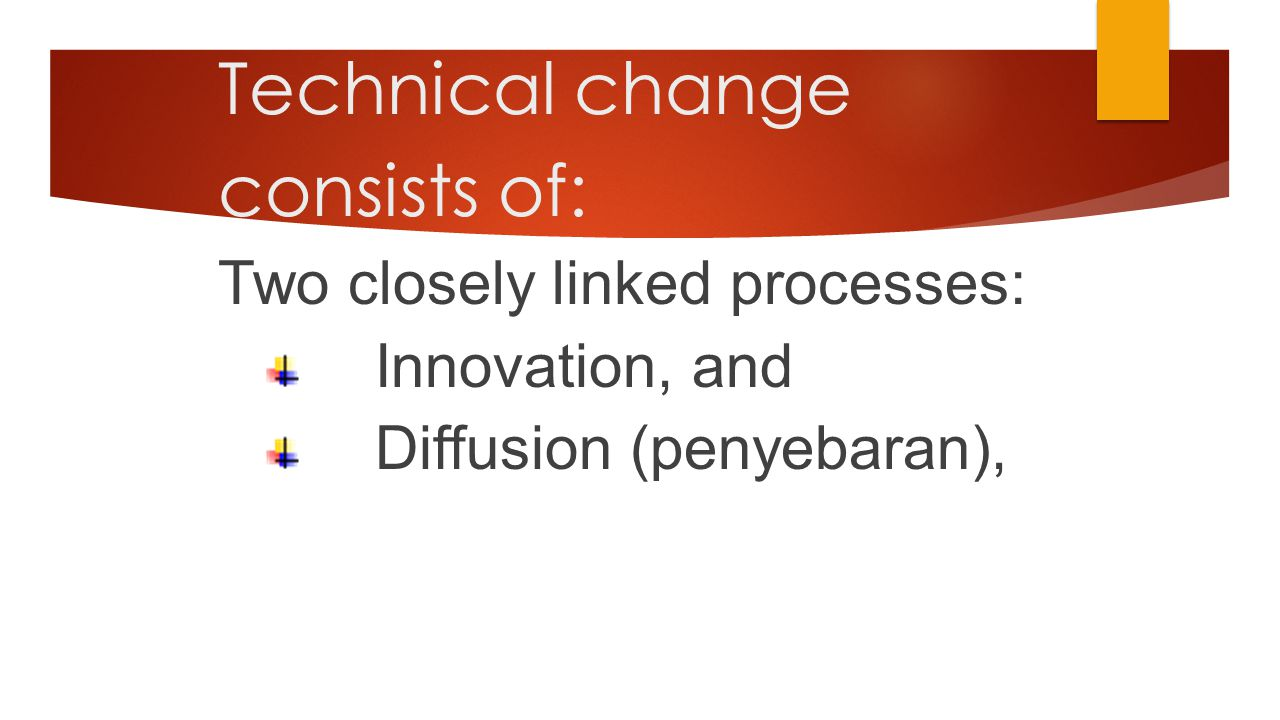 Technical change consists of: