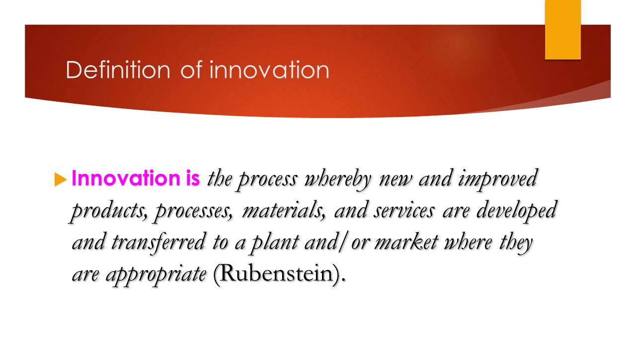 Definition of innovation