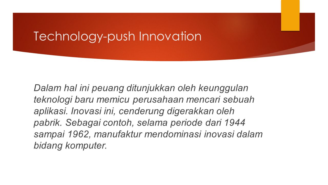 Technology-push Innovation