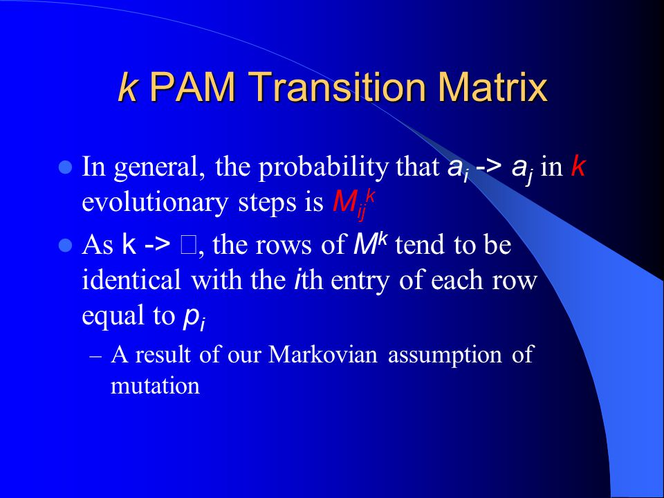 k PAM Transition Matrix