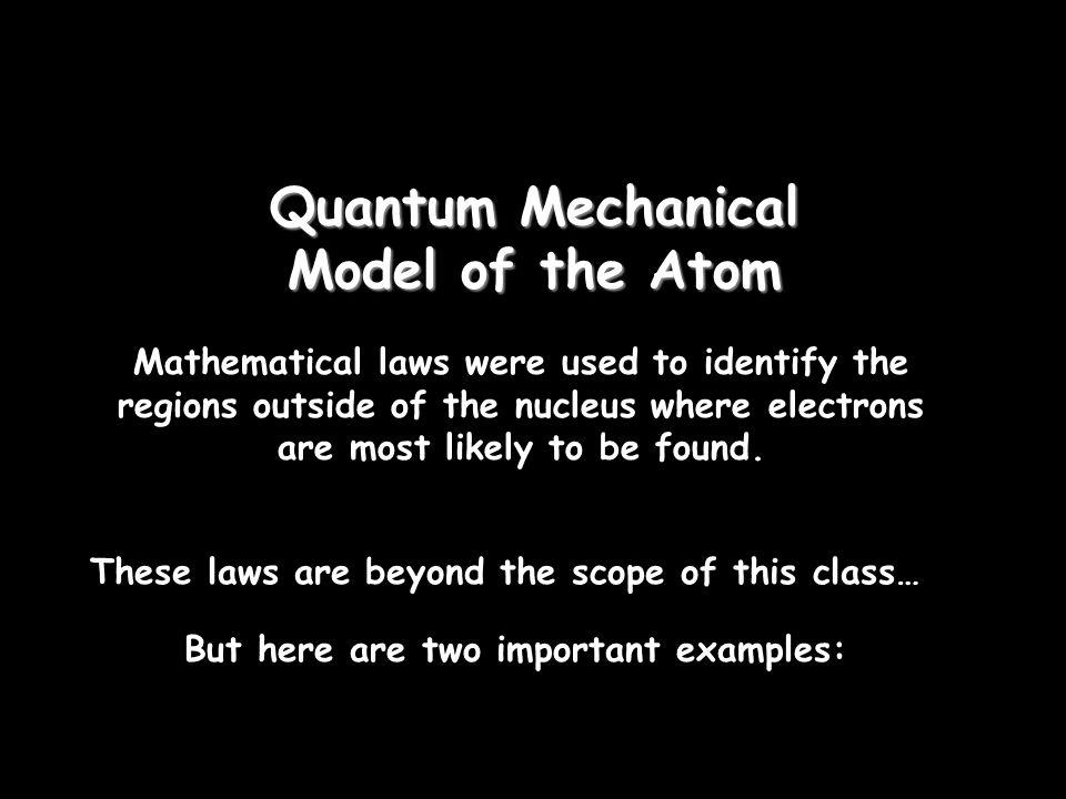 Quantum Mechanical Model of the Atom