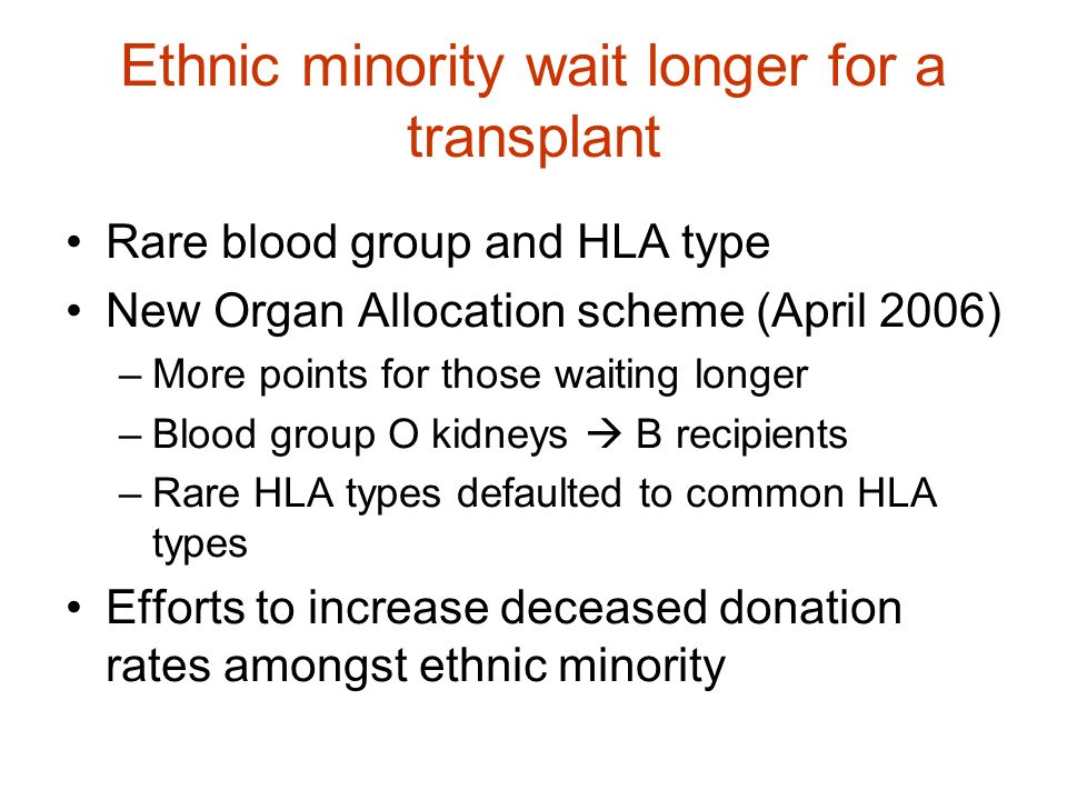 Ethnic minority wait longer for a transplant